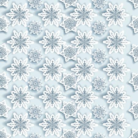 fiambres: Invierno los copos de nieve de fondo sin fisuras. Vectores