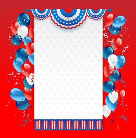patriotic background: Holiday red background with place for text. Decorations for advertising, leaflet, cards, invitation and so on.