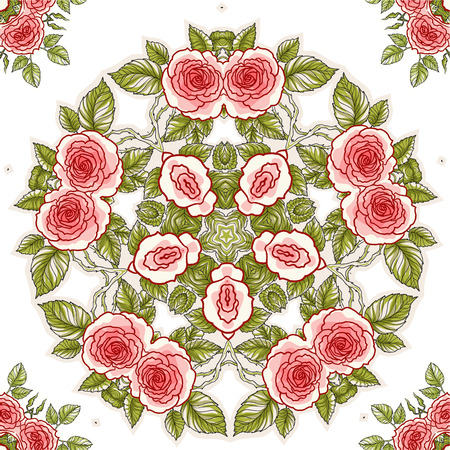 soulful: Roses seamless pattern for holiday design. Floral background.