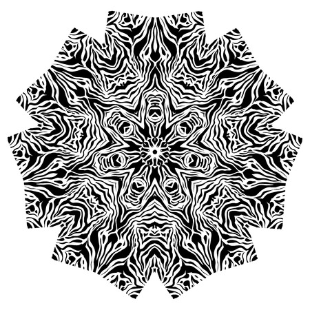 capricious: Black and white abstract ornamental element