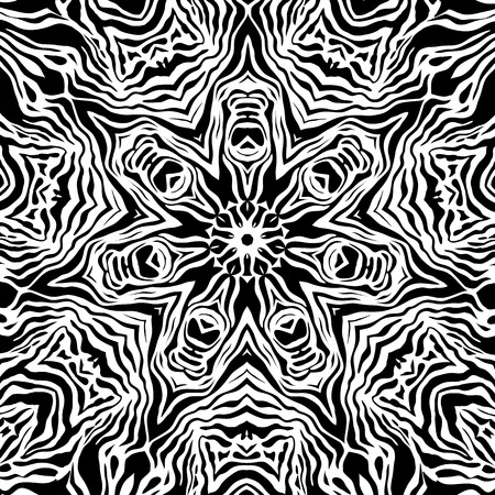 fantastical: Black and white abstract backdrop. Illustration