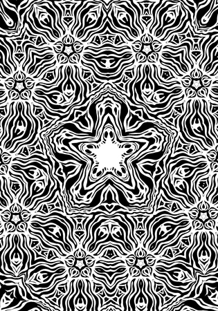 capricious: Black and white abstract ornamental background