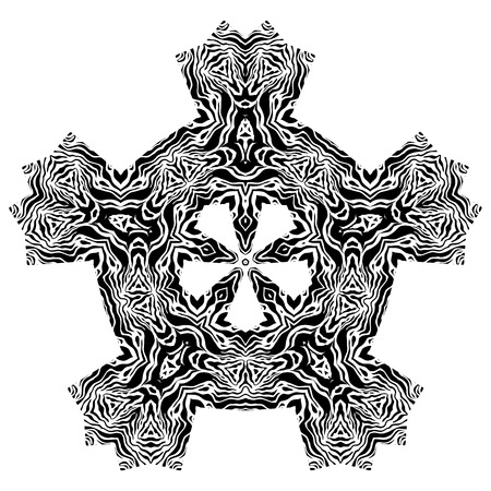 Black and white ethnic ornamental element