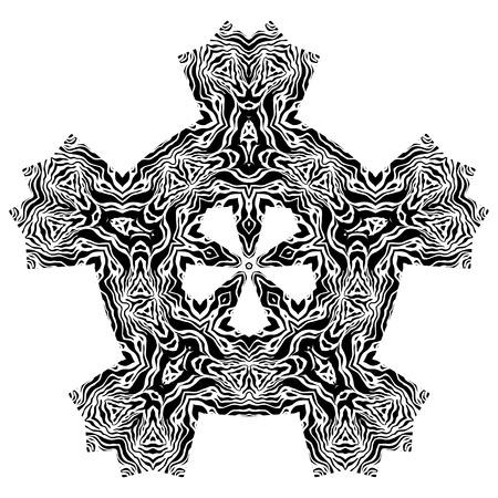 capricious: Black and white ethnic ornamental element