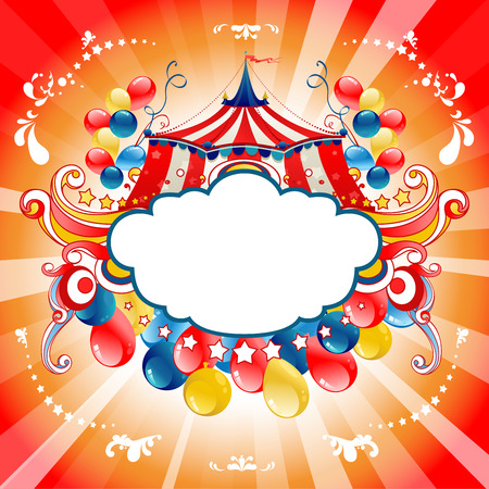 Bright circus for design card, banner,ticket, leaflet and so on.