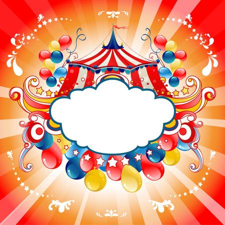 Cirque lumineux pour carte de conception, bannière, billet, dépliant et ainsi de suite. Banque d'images - 46971566