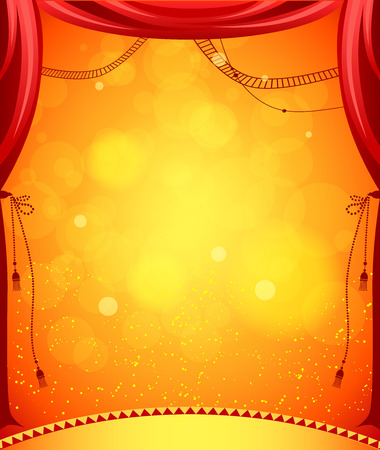 Circus stage for design of card, banner, leaflet and so on.