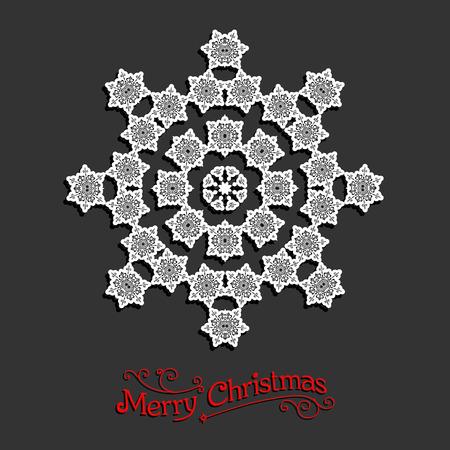 fiambres: Copo de nieve festivo. Diseño de la Navidad para la tarjeta, bandera, invitación, folleto y así sucesivamente.