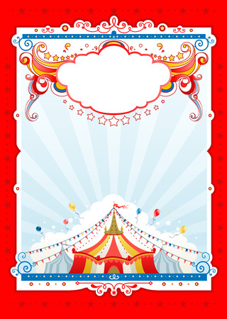 Circus background  for design of card, banner, leaflet and so on.
