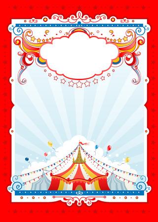 fondo de circo: Circo de fondo para el dise�o de tarjeta, bandera, folleto y as� sucesivamente. Vectores