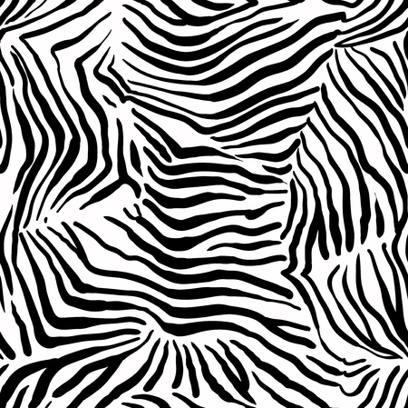 abstract animal: Structural zebra seamless pattern. Animal abstract background Illustration
