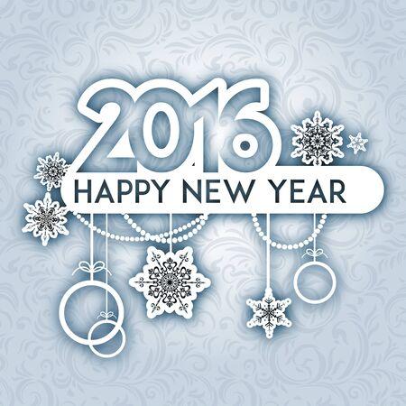 fiambres: Feliz año nuevo fondo. Diseño para la tarjeta, bandera, invitación, folleto y así sucesivamente. Vectores