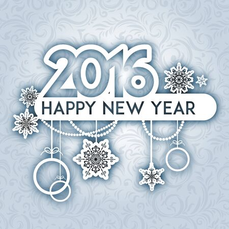 happy new year banner: Happy new year background. Design for card, banner, invitation, leaflet and so on. Illustration