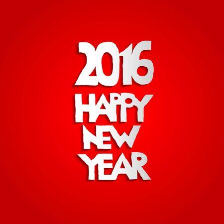 fiambres: Año Nuevo fondo rojo. Letras de vacaciones ISEÑO para la tarjeta, bandera, invitación, folleto y así sucesivamente. Vectores