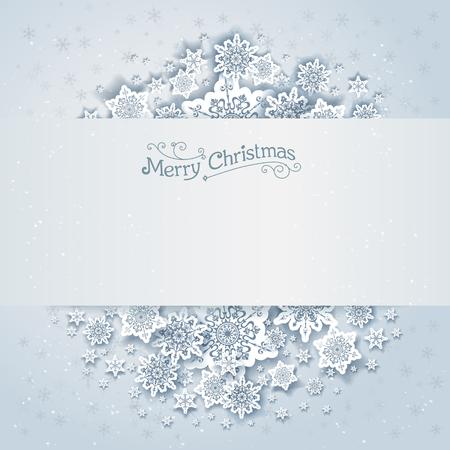 vacanza: Natale nevoso sfondo vettoriale. disegno festa per la carta, banner, invito, depliant e così via. Vettoriali