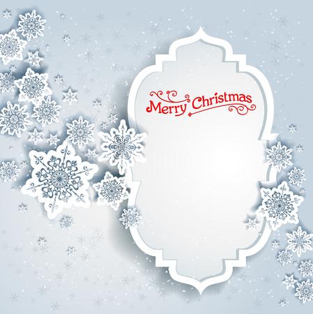 fiambres: Marco de invierno cubierto de nieve. el diseño de fiesta para la tarjeta, bandera, invitación, folleto y así sucesivamente.