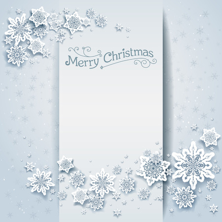 holiday invitation: Snowy winter holiday card. Festive design for card, banner, invitation, leaflet and so on.