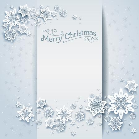 fiambres: tarjeta de vacaciones de invierno cubierto de nieve. Diseño festivo para la tarjeta, bandera, invitación, folleto y así sucesivamente. Vectores