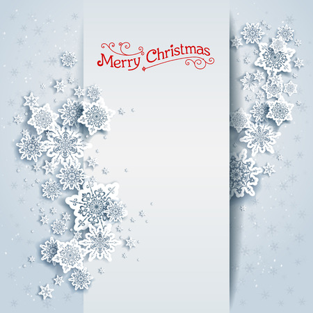 cold cuts: Snowy winter card. Holiday design for card, banner, invitation, leaflet and so on.