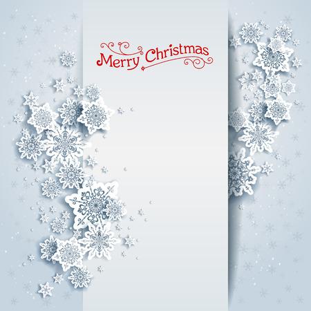 fiambres: tarjeta de invierno cubierto de nieve. el diseño de fiesta para la tarjeta, bandera, invitación, folleto y así sucesivamente. Vectores