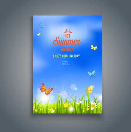 Nature template for design banner,ticket, leaflet, card, poster and so on Ilustração Vetorial