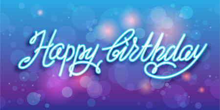 handwriting: Handwriting happy birthday holiday vector background