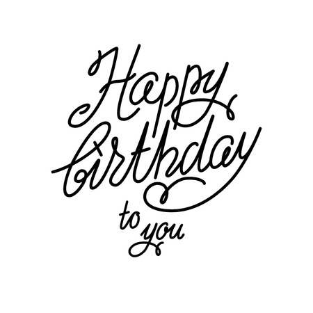 Handwriting happy birthday vector background Illustration