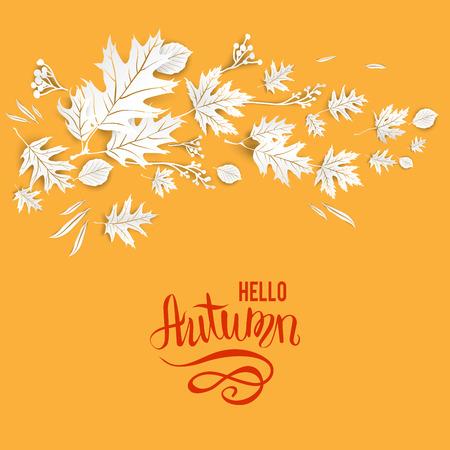 Herbstlaub-Kartenvorlage für Design-banner