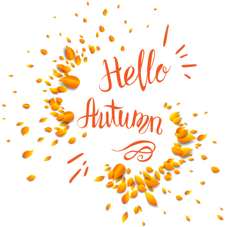 Autumn lettering template for design banner Illustration