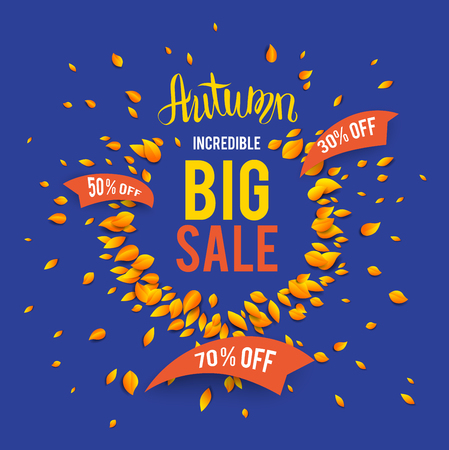 wind down: Autumn sale template for design banner
