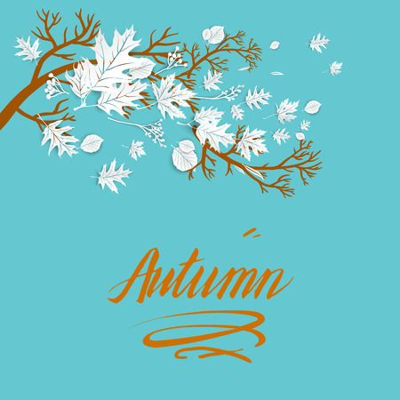 Fall blue template for design banner