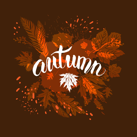 Fall leaves template for design banner