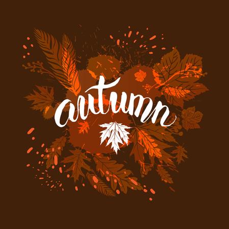 Fall leaves template for design banner