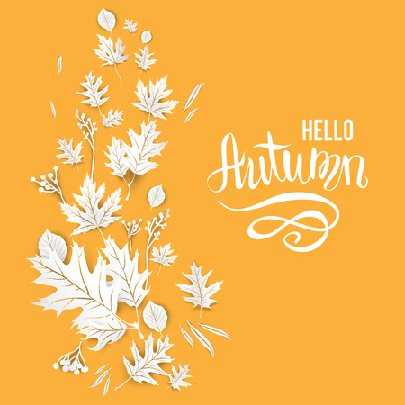 wind down: Fall yellow template for design banner Illustration