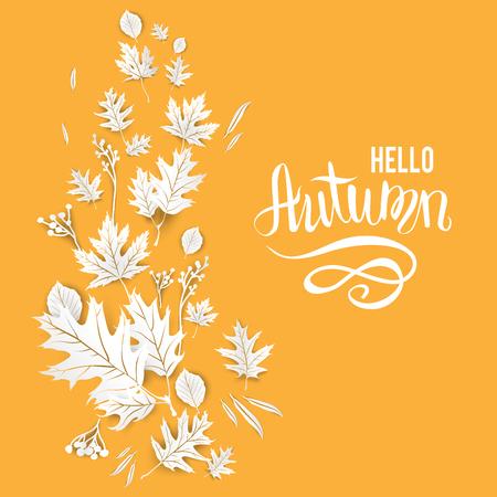 Modèle jaune d'automne pour la bannière de conception