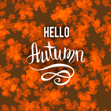 Autumn brown background Illustration