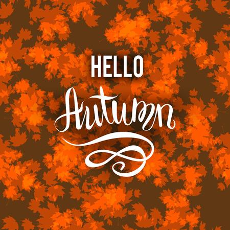 wind down: Autumn brown background Illustration