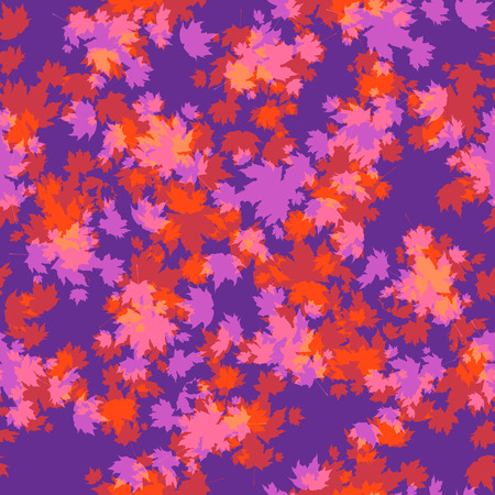 Autumn leaves seamless template for design banner