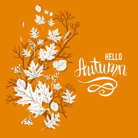 autumn motif: Autumn motif template for design banner