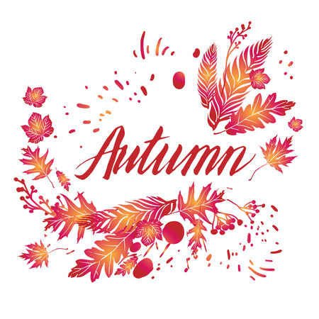 wind down: Fall art background for design banner
