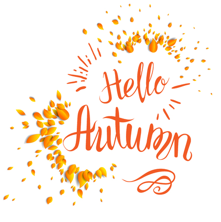 Fall lettering template for design banner