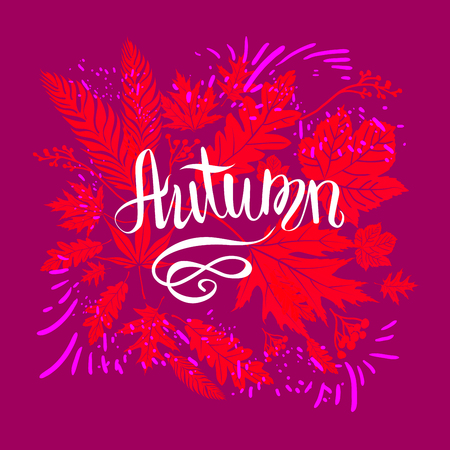 autumn background: Fall background template for design banner,ticket, leaflet, card, poster and so on.
