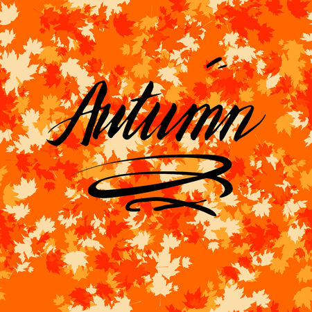 rusty: Fall background template for design banner,ticket, leaflet, card, poster and so on.