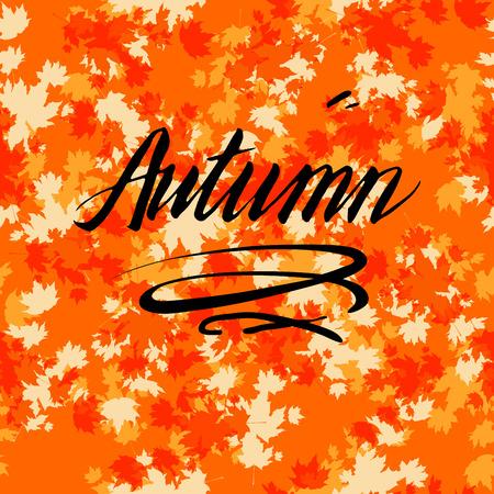 Herbst Hintergrund Design-Vorlage für Banner, Ticket, Prospekt, Karte, Poster und so weiter.