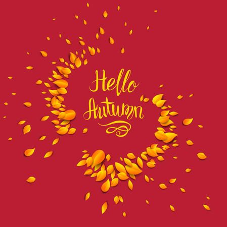 Fall background template for design banner,ticket, leaflet, card, poster and so on.