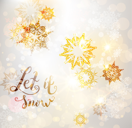 festive background: Winter ornamental snowflakes background for holiday invitation or card. Holiday background for design banner, ticket, leaflet and so on.