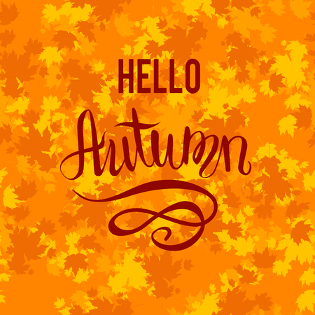 leaf: Autumn leaves card template for design banner,ticket, leaflet, card, poster and so on.