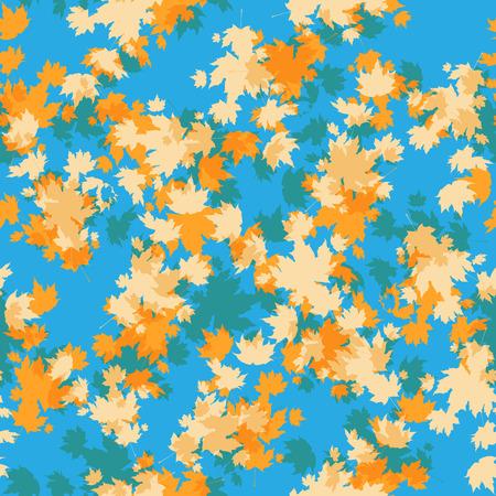 Autumn maple seamless pattern background