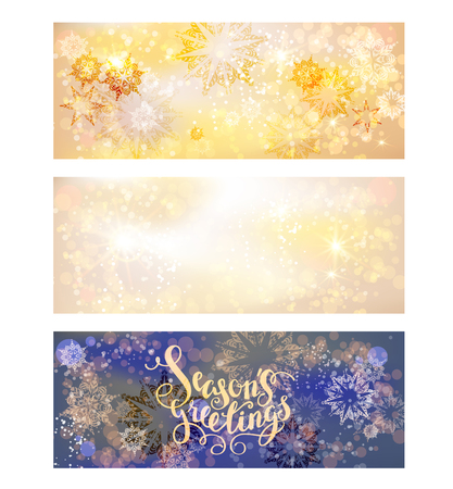 page layout: Winter ornamental snowflakes background for holiday invitation or card. Holiday background for design banner, ticket, leaflet and so on.