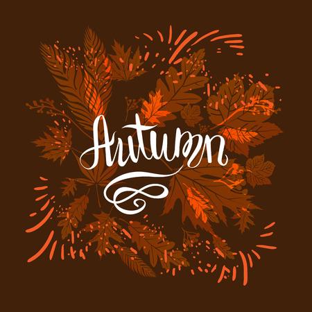 Herbstlaub-Karte Design-Vorlage für Banner, Ticket, Prospekt, Karte, Poster und so weiter.